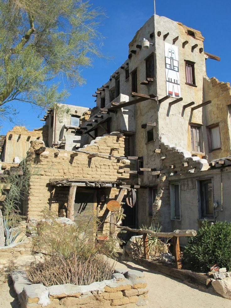 Historic Houses of California - Riverside County - Desert Hot Springs - Cabot's Pueblo Museum - 1883-1965