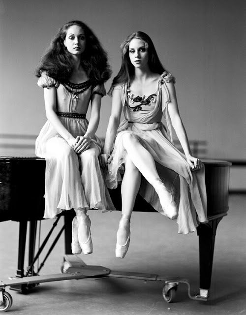 Leslie and Melinda Roy on piano - Melinda Roy was a former principal dancer with the New York City Ballet and later artistic director of Gulfshore Ballet in Fort Myers. Her sister Leslie was a former soloist.