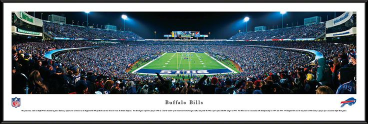 Buffalo Bills Panoramic - Ralph Wilson Stadium Picture Framed- End Zone