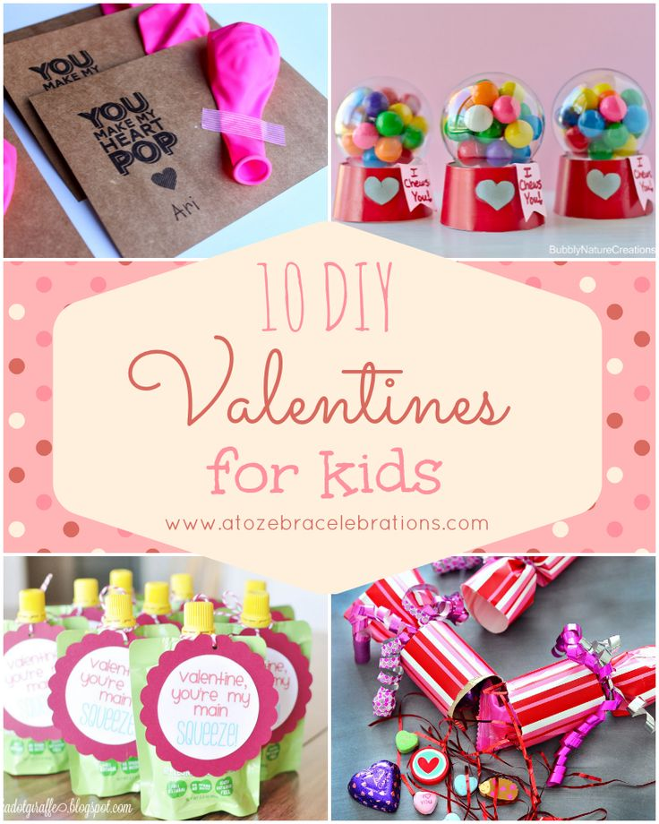 25 Easy Diy Valentines Day Gift And Card Ideas: 10 DIY Valentines For Kids