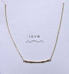 I Come From A Line Of Morse Custom Necklaces Where They Will Spell Out Any Message For You In Morse Code