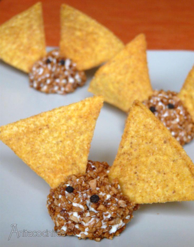 Murciélagos de queso para Halloween