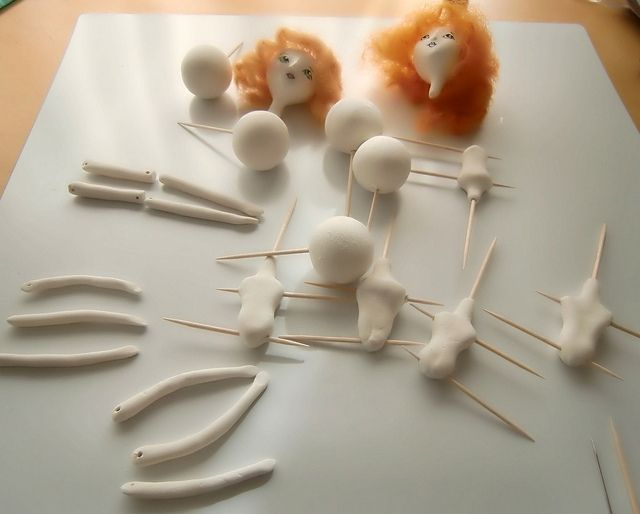 paper clay dolls | paper clay body parts | Flickr - Photo Sharing!