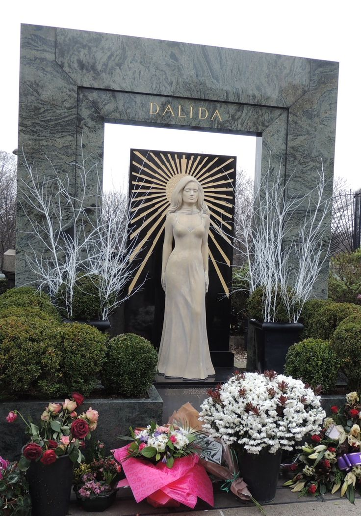Dalida's monument. Montmartre Cemetery Paris, France photo by #sueharper Sue Harper seniornomad.wordpress.com
