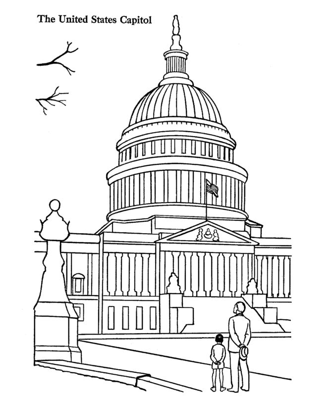 US Capitol Building Coloring Pages