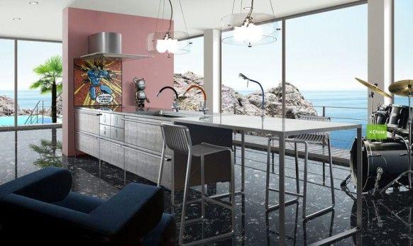 fun modern kitchen