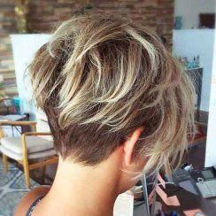 Cool back view undercut pixie haircut hairstyle ideas 23