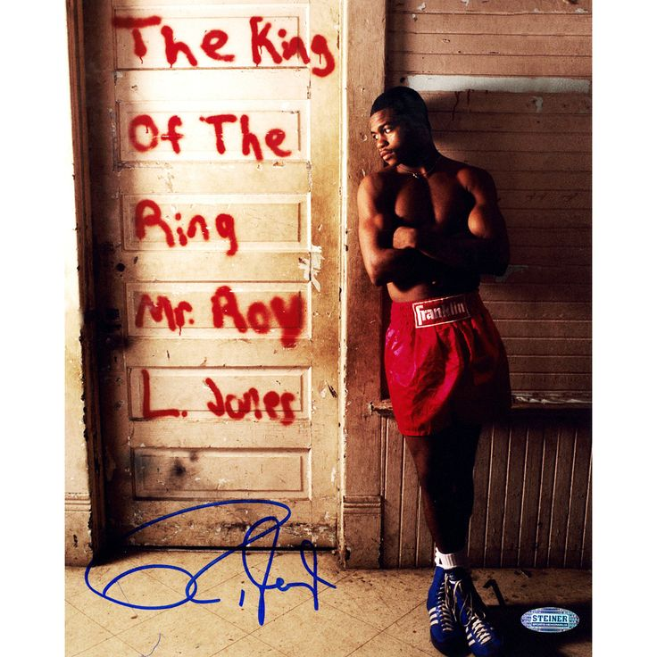 Roy Jones Jr. Signed 'The King Of The Ring' 16x20 Vertical Photo