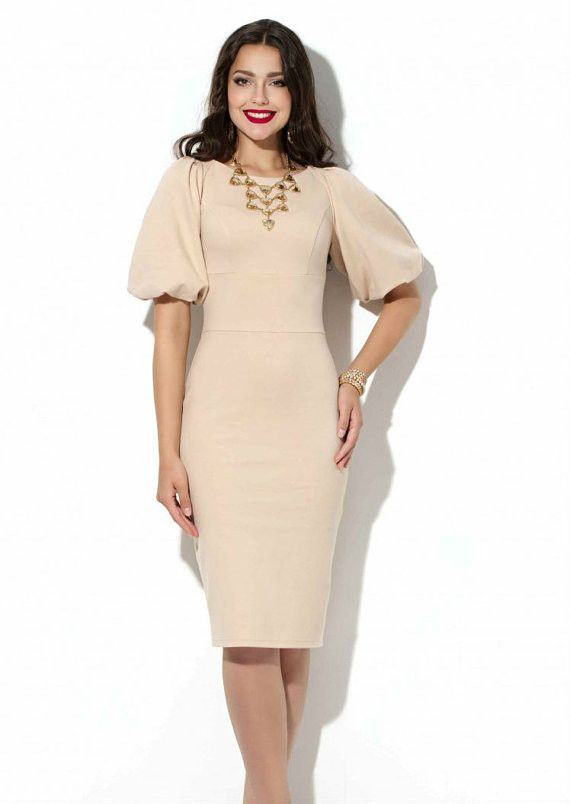 Elegant Formal dress Wedding knee length dress Office Business clothes Evening Dress
