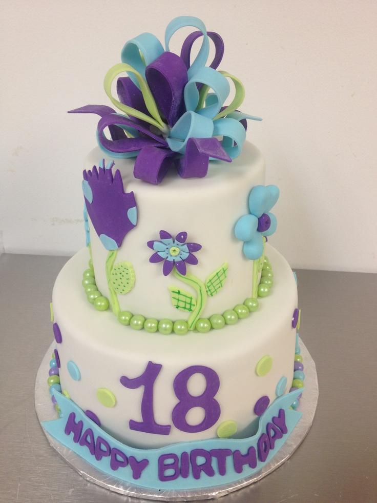 Happy Th Birthday  My Kakes Kake Kreations - Happy birthday 18 cake