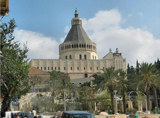 The church of The Annunciation, Nazareth Holyland | Places ...