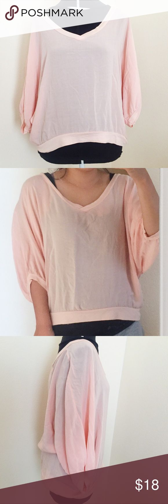 Splendid Blush Pink Top Great condition. Slightly sheer. 100% Rayon. Splendid Tops Blouses