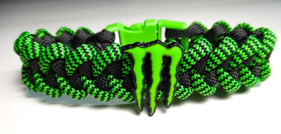 Monster Energy Paracord Bracelet  SHOCKWAVE by ParacordLinks