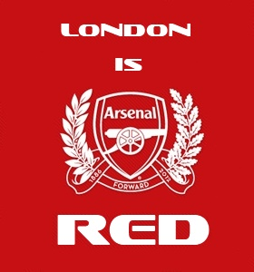 London [Arsenal] is RED! #COYG
