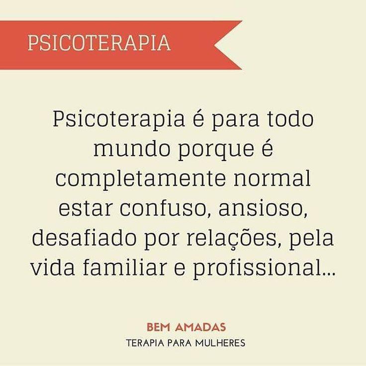 Psicoterapia é investimento em saúde física e psicológica! O retorno deste…