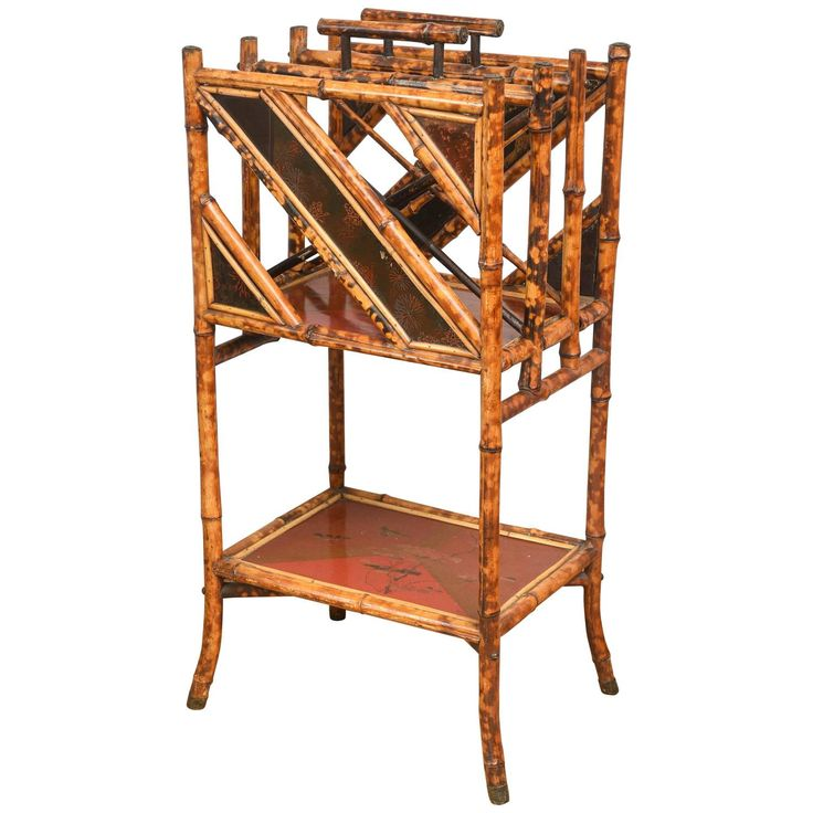 19th Century English Bamboo Canterbury  | See more antique and modern Magazine Racks and Stands at https://www.1stdibs.com/furniture/more-furniture-collectibles/magazine-racks-stands
