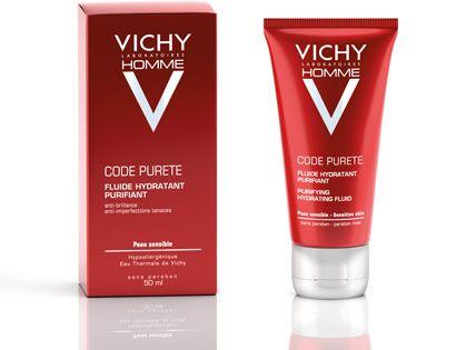 Ανακαλύψτε την ενυδατική κρέμα Vichy Code Purete, ειδικά προσαρμοσμένη στις ανάγκες της ευαίσθητης επιδερμίδας των αντρών.