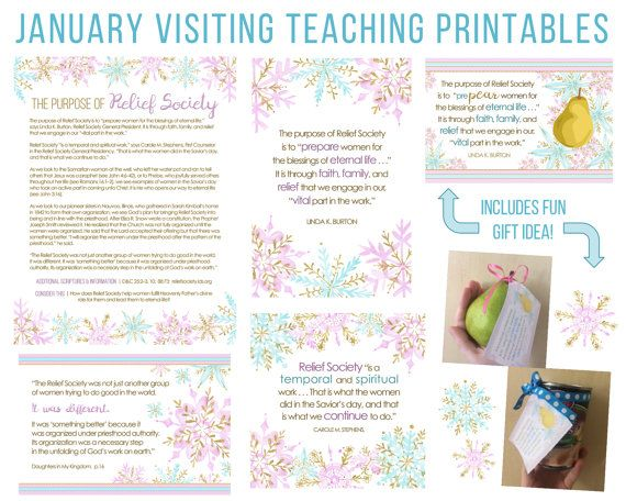 January 2017 Printable Visiting Teaching Handouts #lds #mormon #visitingteaching https://www.etsy.com/listing/489063126/january-2017-visiting-teaching-message