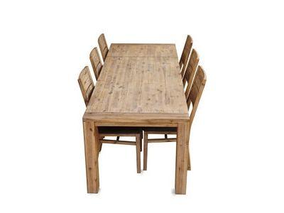 Table rectangulaire avec 1 rallonge de 50cm Hamburg