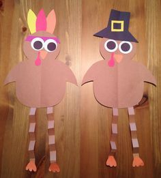 Pilgrim and Indian Turkey Craft - Thanksgiving Craft - Preschool Craft