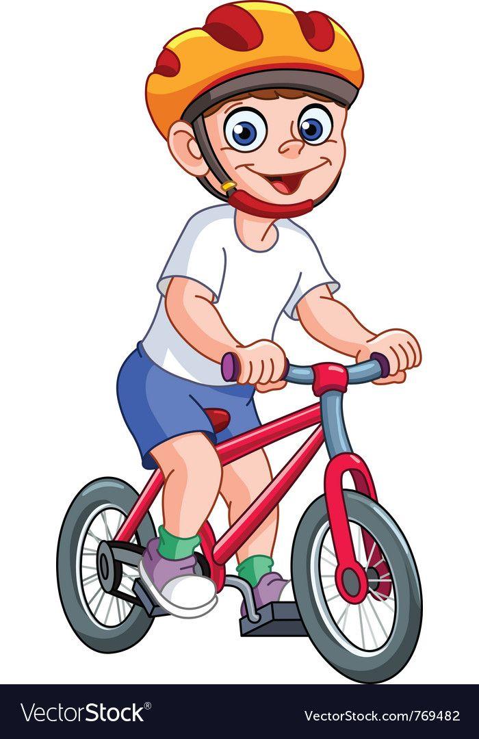 Kid On Bicycle Vector Image On Malyunki Diti Svoyimi Rukami