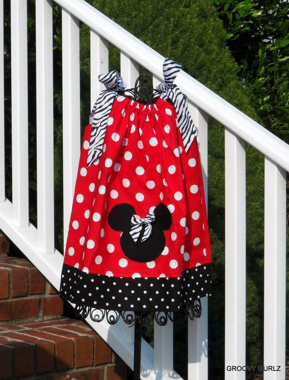 Disney Minnie Mouse Appliqued Pillowcase Dress & 120 best BowsAnd dresses for little girls Minnie Mouse images on ... pillowsntoast.com