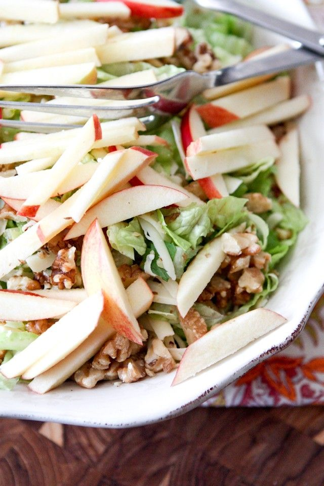 Apple, Celery and Walnut Salad with Honey Dijon Vinaigrette - the BEST fall salad!  So fresh and full of flavor. Recipe via aggieskitchen.com