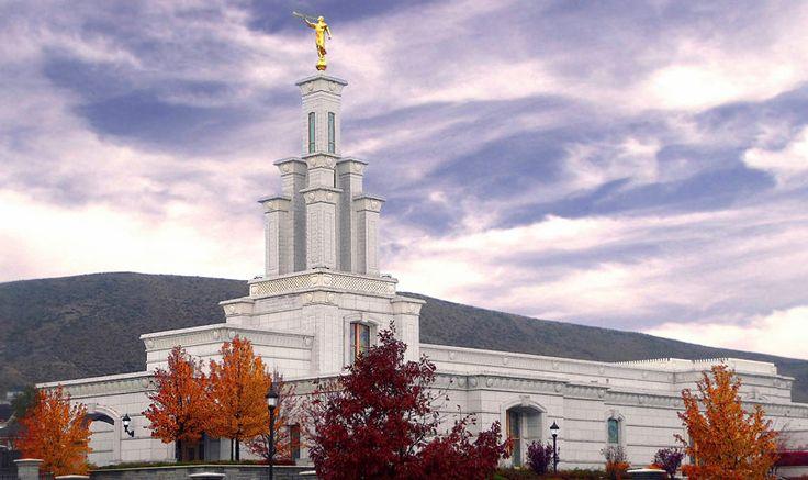 Columbia River Washington Temple. A gorgeous   Autumn picture taken by Stephen VanGorkum.  #Mormon #MormonTemple