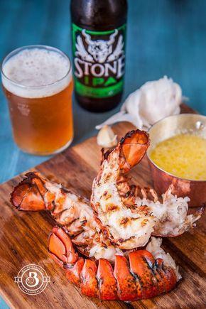 Grilled Garlic Beer Butter Lobster / thebeeroness.com