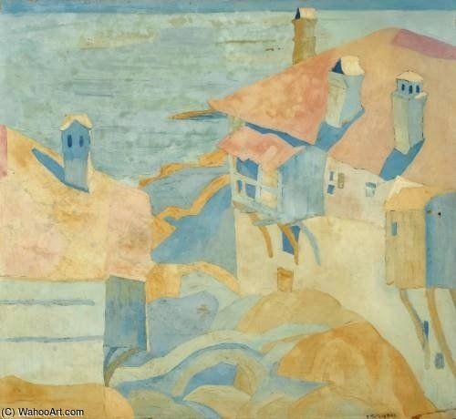 Casas, el Monte Athos de Spyros Papaloukas (1892-1957, Greece)
