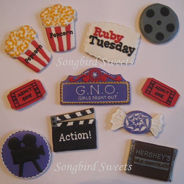 My husband's co-worker gets together with her girlfriends every once in awhile for a Girls Night Out. She requested some movie themed cookies, a Girls Night Out plaque (they call themselves G.N.O....how cute!) and a Ruby Tuesday plaque since they alw She is a successful and versatile television and film actress, as well as a singer, award nominated musical theatre performer, choreographer ,voice artist and writer. - www.jogalloway.com