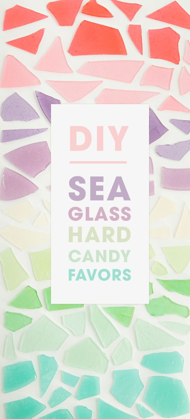 This is the best tutorial for how to make sea glass hard candy! What a fun and unique favor idea!