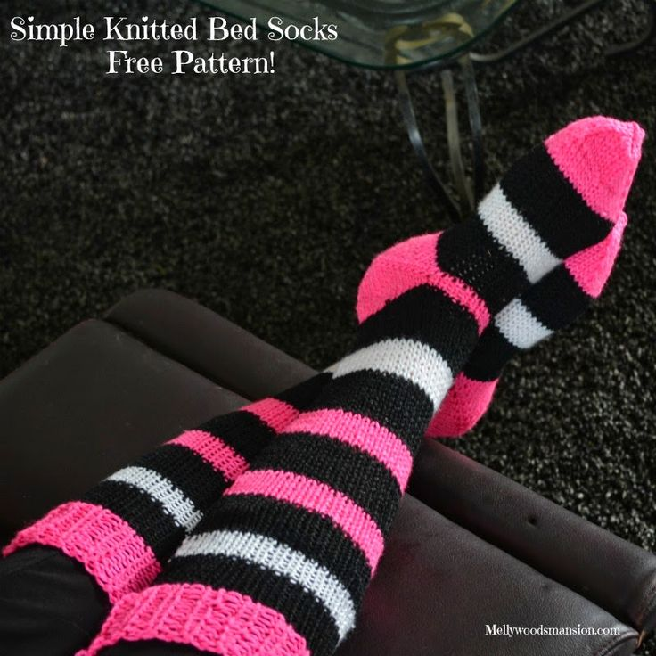 Knitting Patterns Bed Socks Easy : 16 best images about Knitted bed socks on Pinterest ...