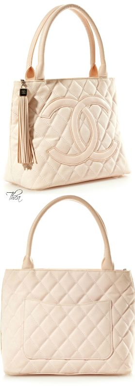 Vintage Chanel Pink Canvas Quilted CC Bag
