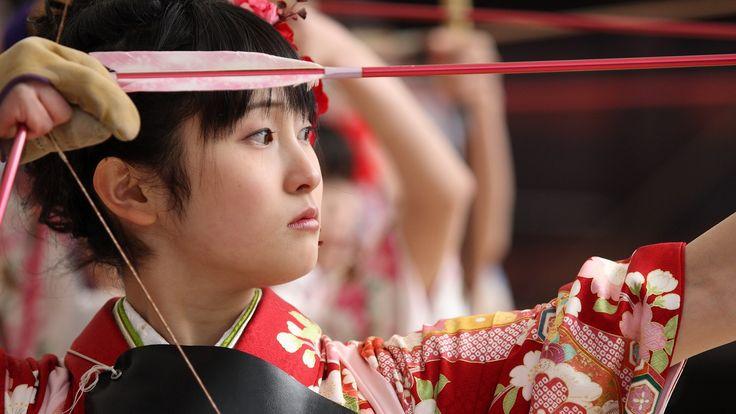 Giapponese, Donne, Archi, arti marziali, Kyudo