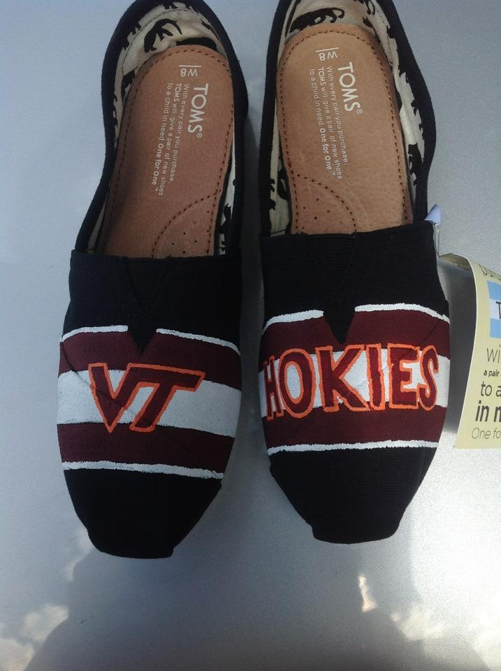 Virginia Tech TOMS! Love these! Maybe even in maroon Toms?