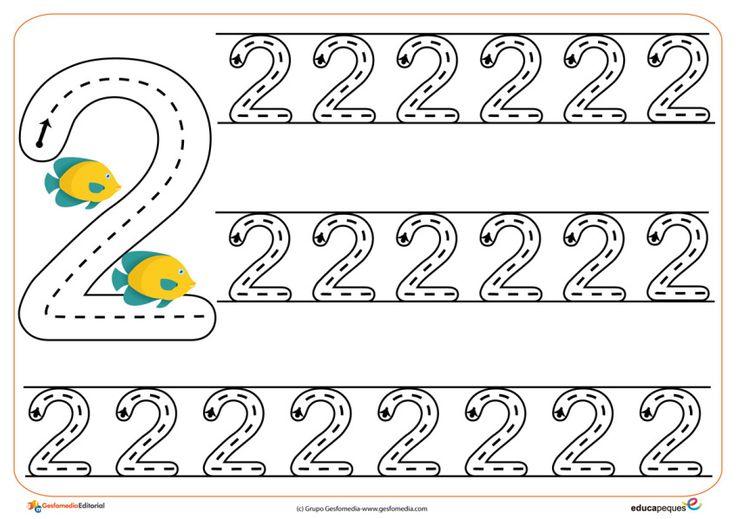 05grafomotricidad numeros | El Portal de Educapeques