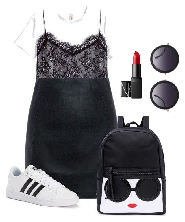 """""""Untitled #3"""" by yoko-aida on Polyvore featuring McQ by Alexander McQueen, adidas, NARS Cosmetics and Alice + Olivia"""