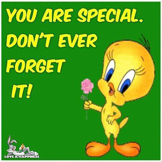 You are special. Don't ever forget it! life quotes quotes quote tweety life quotes and sayings tweety bird life quotes