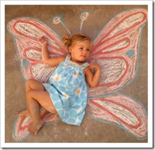 Sidewalk Chalk art photography ideas.