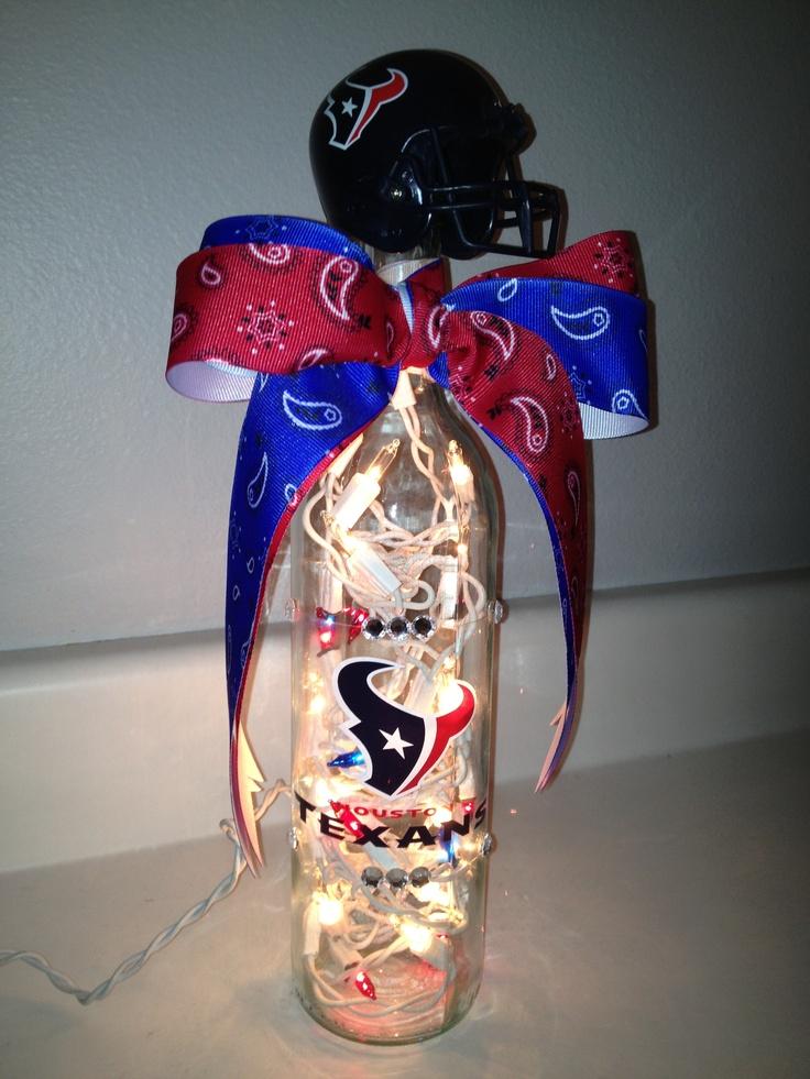 Houston Texans Wine Bottle Lamp ~Kimber☆Ann~
