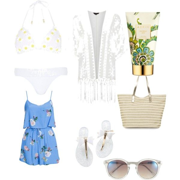 Beach day by bambyee on Polyvore featuring polyvore, fashion, style, MINKPINK, River Island, Monsoon, Vince Camuto and AERIN