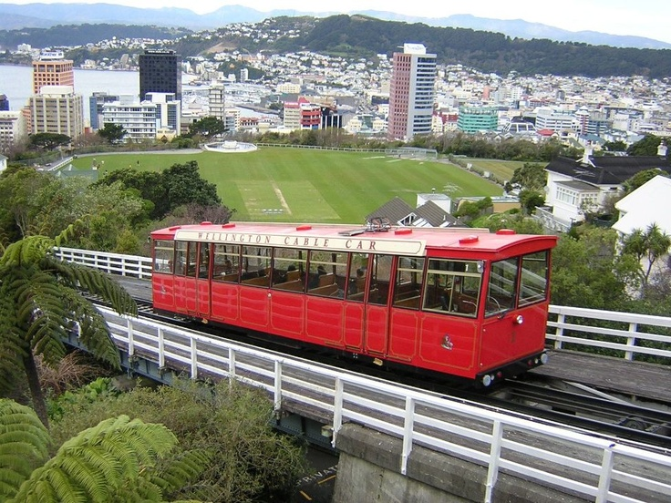 Cable car Wellington, New Zealand.