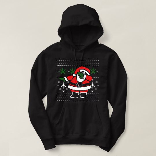 Dabbing Santa Merry Christmas Custom Hoodies