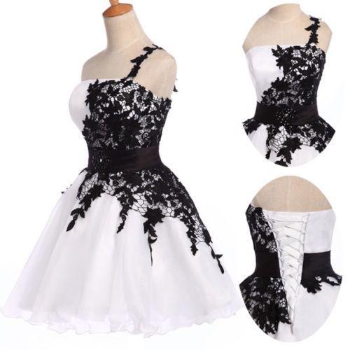 court-Femmes-de-soiree-formelle-robe-de-bal-Cocktail-Robe-soiree-mariee-mariage