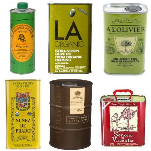 olive oil tin bottles
