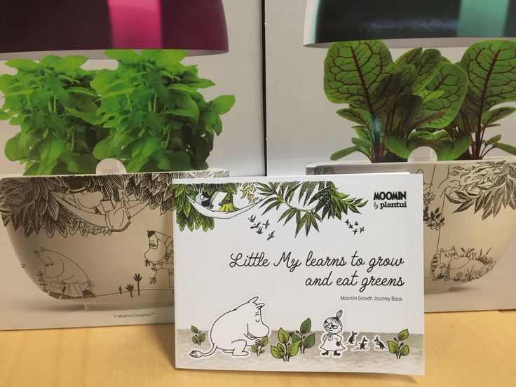 Storytelling: educational and fun gardening for kids with Moomin Garden. Brilliant book about Little My learning to grow and eat greens designed by Jenni Seppä.