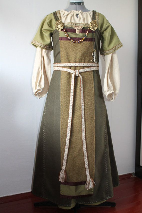 Reserved. Viking age apron dress by Nyfrid on Etsy