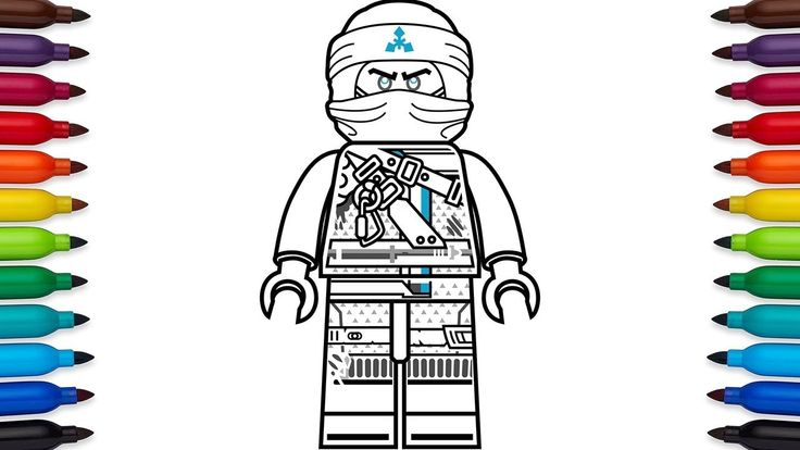 Lego Ninjago Zane Coloring Pages Easy To Color Coloring Pages Lego Ninjago Printable Coloring Pages