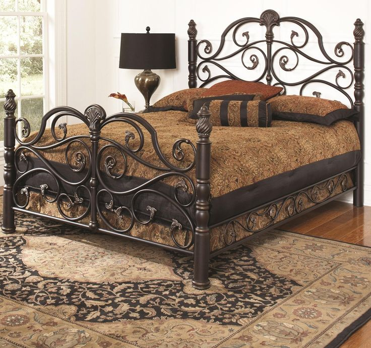 Bella Iron Bed in Bronze by Largo Furniture